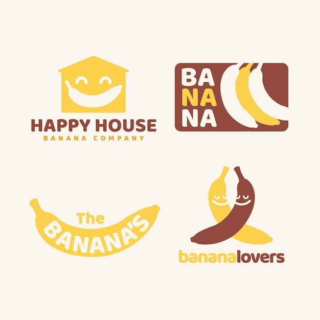 バナナロゴコレクション 無料ベクター