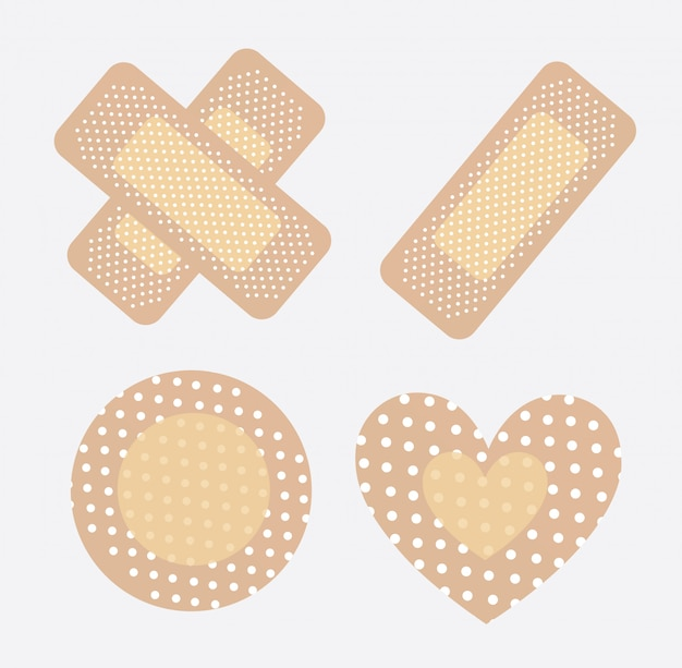 Bandages Premium Vector
