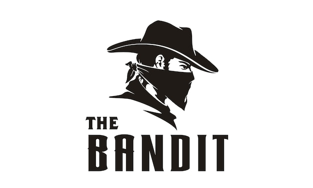 Bandit cowboy illustration Premium Vector