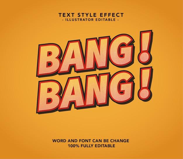 Bang bang font Premium Vector