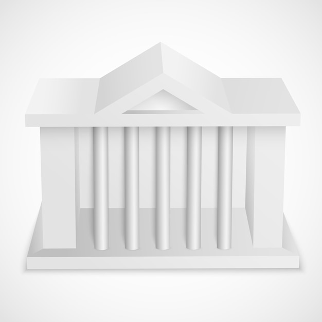 Bank building blank element Free Vector