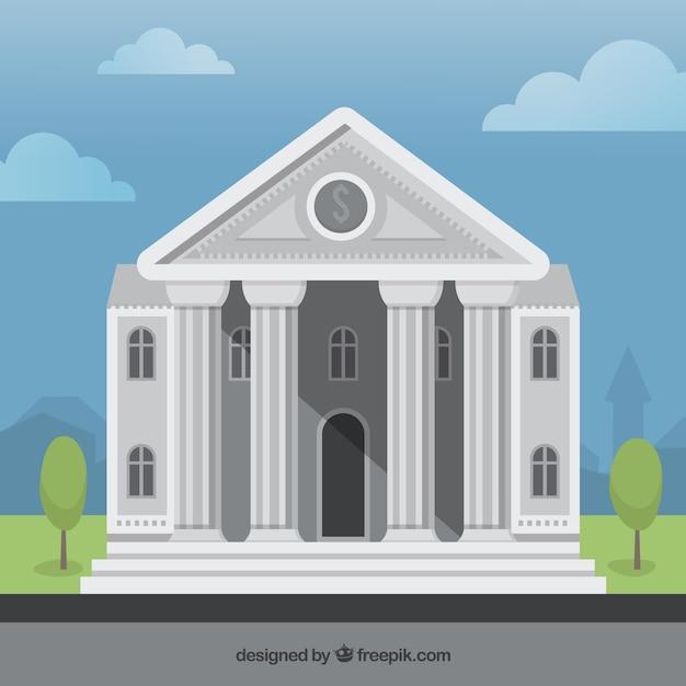 bank building Free Vector