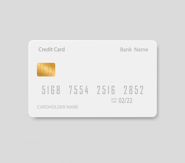 Bank card mock up. plastic credit card. Premium Vector