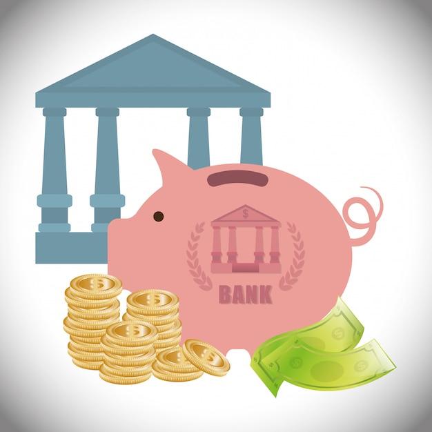 Bank design Premium Vector