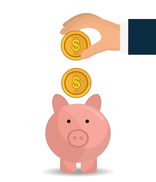 Bank,global economy and money savings Free Vector