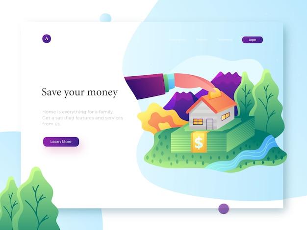 Bank illustration Premium Vector