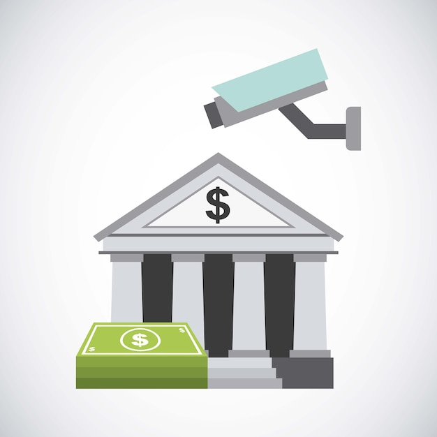Bank and money design Premium Vector