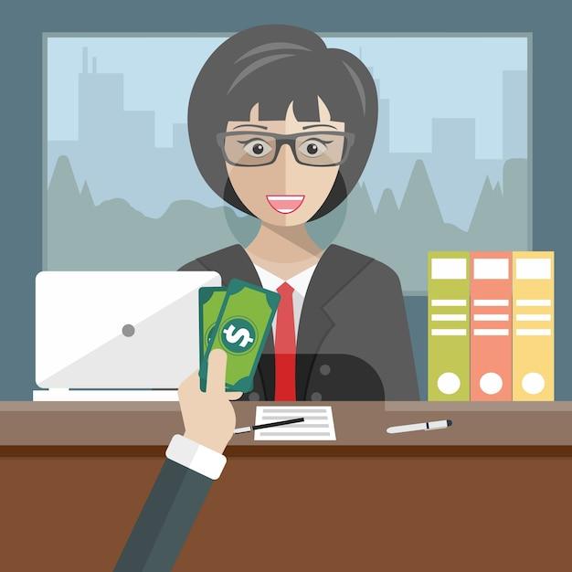 bank teller sitting behind glass vector free download. Black Bedroom Furniture Sets. Home Design Ideas