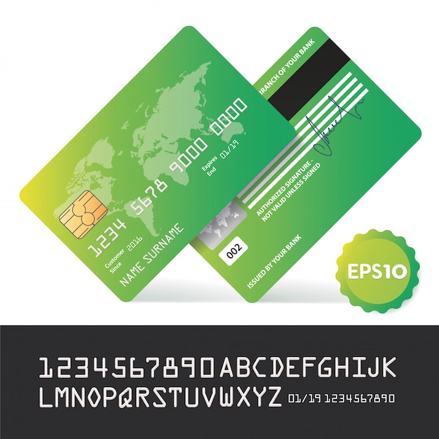 Banking business plastic card and payment Premium Vector