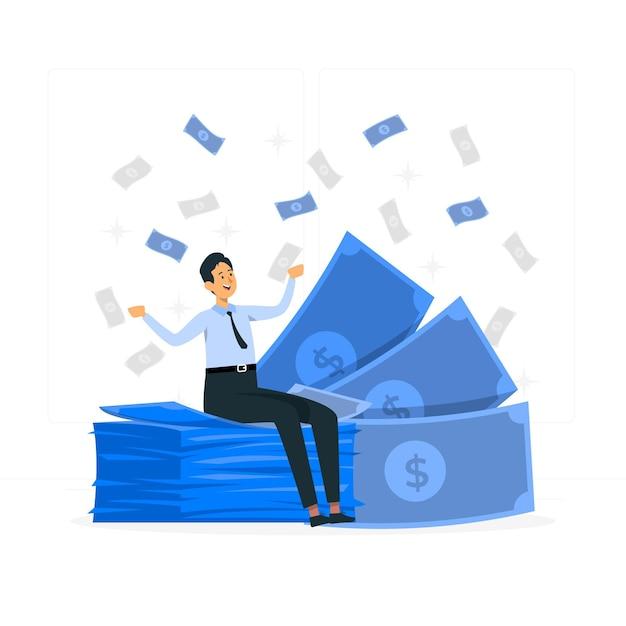 Banknoteconcept illustration Free Vector