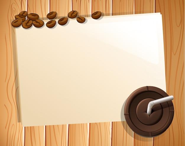 Баннер и кофе Бесплатные векторы