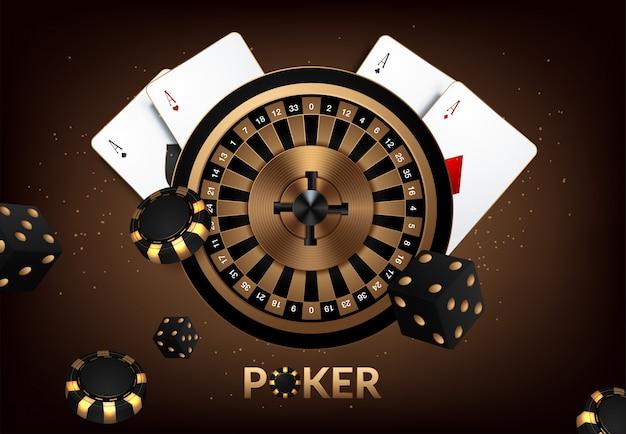 Banner, background for advertising games in casinos Premium Vector