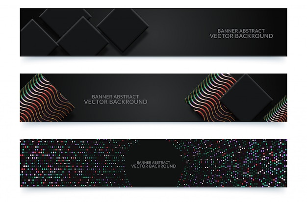 Banner background. modern template vector design Premium Vector