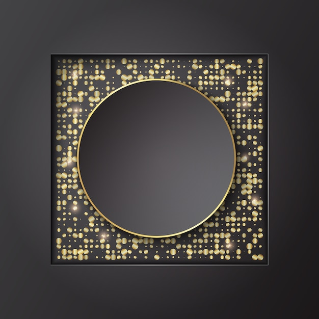 Banner background template design with glitter. vector illustration. Premium Vector