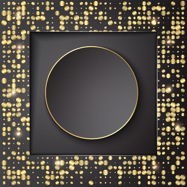 Banner background template design with glitter Premium Vector