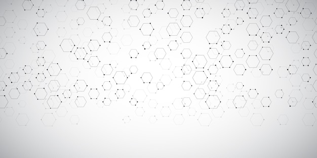 Banner background with abstract connections design Free Vector