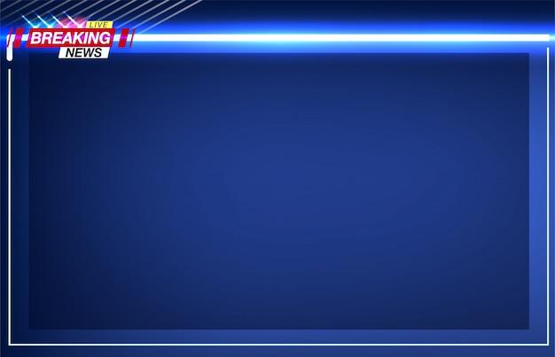 バナー速報、重要なニュース、点滅するライトの形での警察。画像。 Premiumベクター