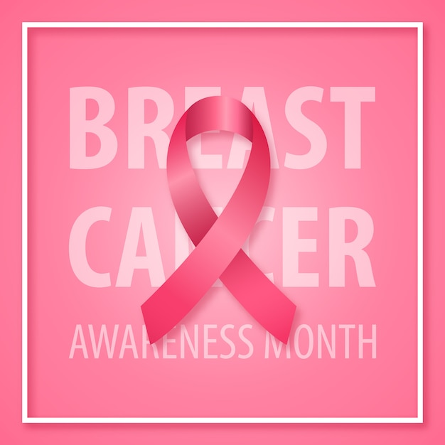 Banner for breast cancer awareness month. Premium Vector