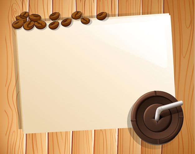 Banner and coffee Free Vector