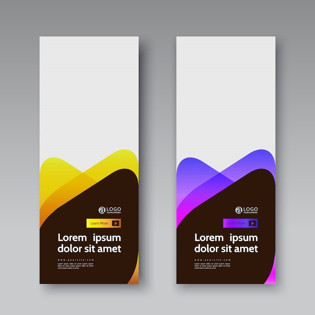 Banner covers set modern abstract vector template Premium Vector