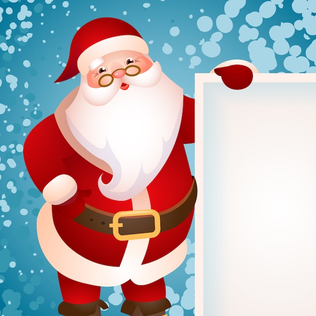 Banner design with santa claus Free Vector