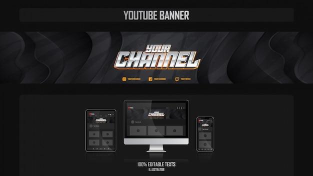 音楽のコンセプトを持つソーシャルメディアチャネルのバナー Premiumベクター