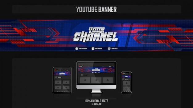 スポーツコンセプトのソーシャルメディアチャネルのバナー Premiumベクター