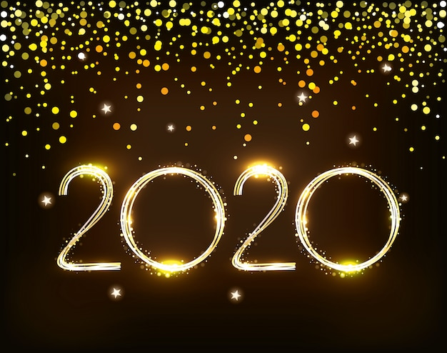 Banner of happy new year 2020 Vector | Free Download