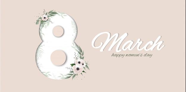 Banner for the international women s day. Premium Vector