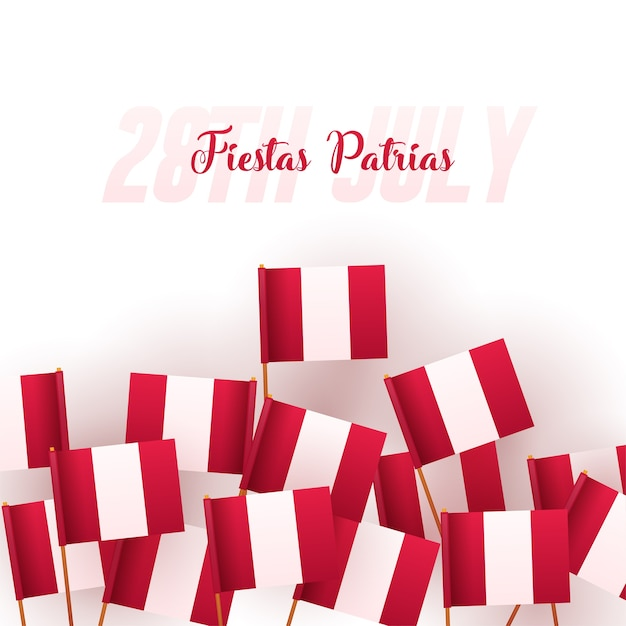 Premium Vector Banner Or Poster Of Peru Independence Day Celebration