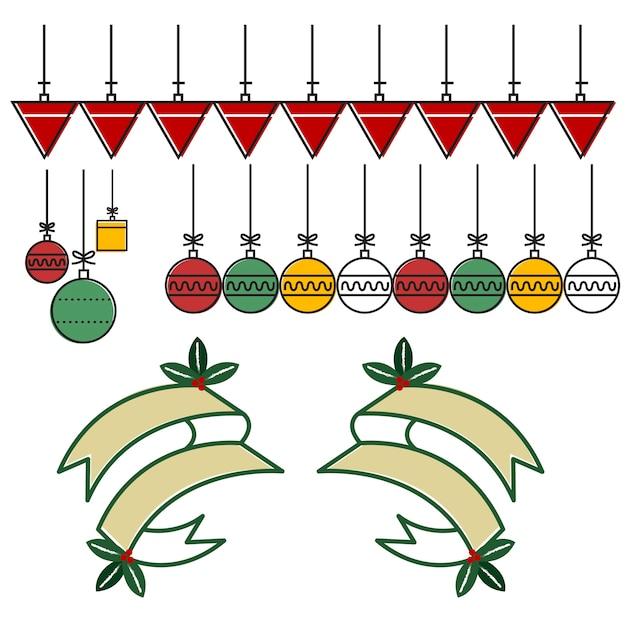 Banner ribbon decoration christmas\ season