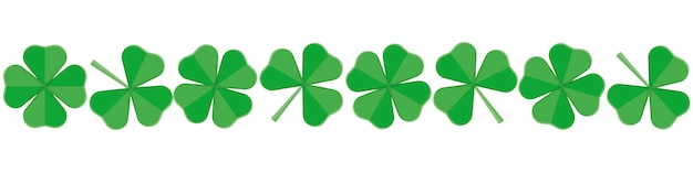 Banner for st.patrick 's day of green clover Premium Vector