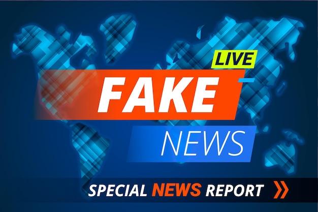 バナーテンプレートの偽のライブニュース 無料ベクター