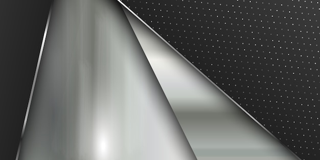 Banner template with brushed metal texture Free Vector