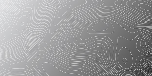 Banner template with topography contour design Free Vector