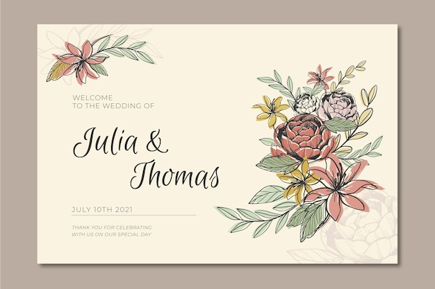 Banner for wedding Free Vector