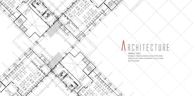 Banner With Architecture Design Premium Vector