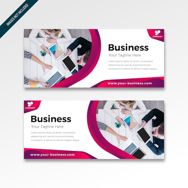 Banner with modern design colorful gradient Premium Vector