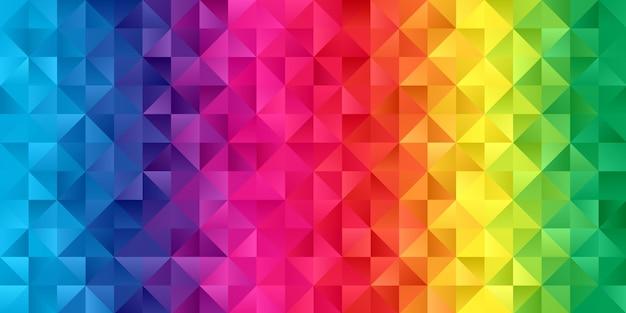 Banner con un design low poly color arcobaleno Vettore gratuito