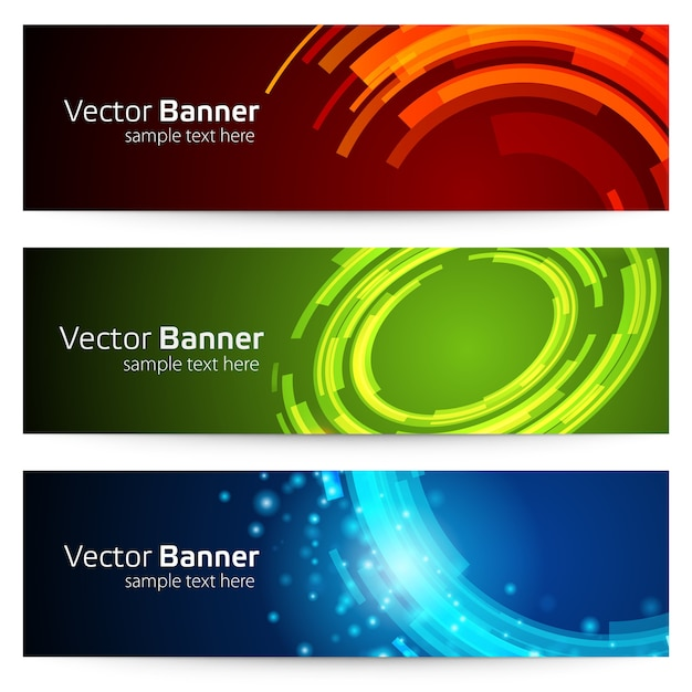 Баннер с круглыми геометрическими абстрактными формами Premium векторы