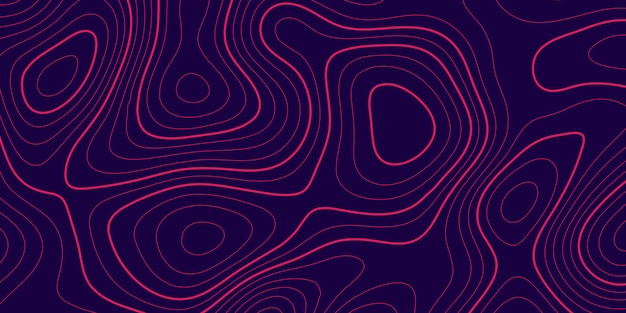 Banner with topography contour design Free Vector