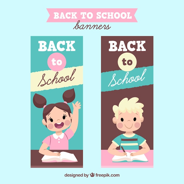 Banners back to school with lovely kids