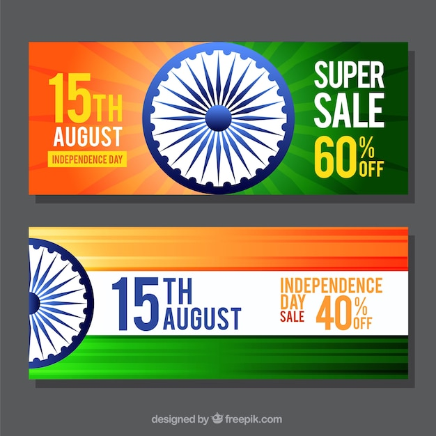 Banners for independence day of india and sales