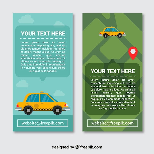 Banners for taxi companies