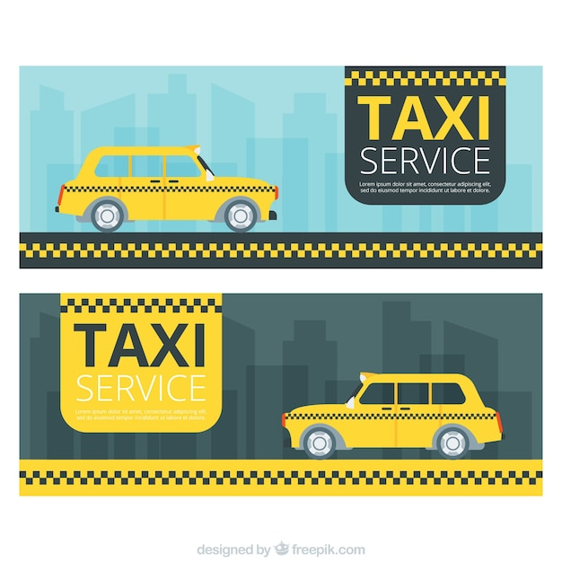 Banners for taxi service