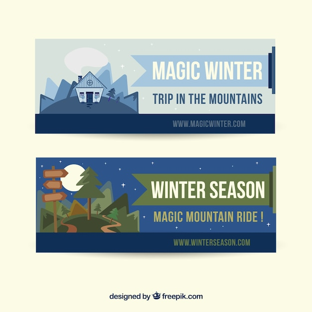 Banners for the winter season