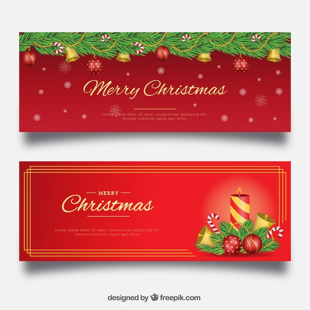 Banners in a christmas theme