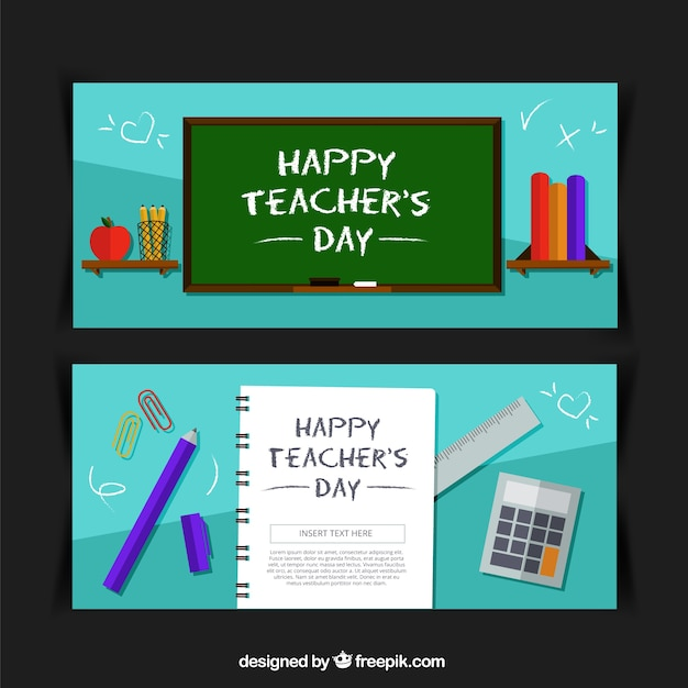Banners of teacher\'s day celebration