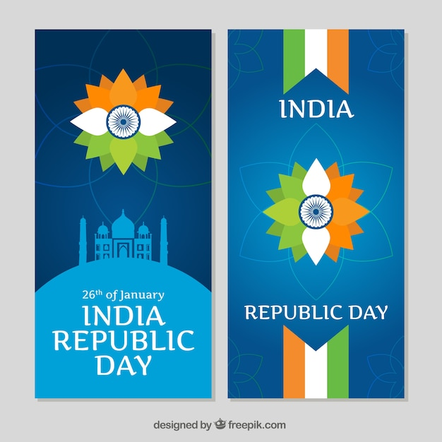 Banners pack of Indian republica day