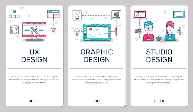 Banners for phone Premium Vector